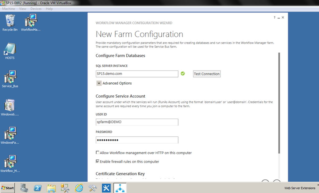 Configuring Workflow Manager 10 On Sharepoint 2013 Screenshots
